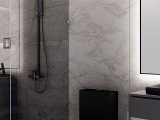 Baño principal HC Arquitecto Baños modernos Mármol Blanco