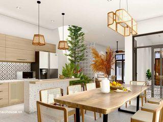 Mẫu nội thất nhà phố đẹp hiện đại mặi tiền 6m tại Phú Quốc NEOHouse