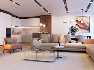 Madeira Negra Modern living room