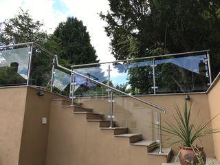 Glass Balustrade in Taunton Origin Architectural Schody Szkło Przeźroczysty