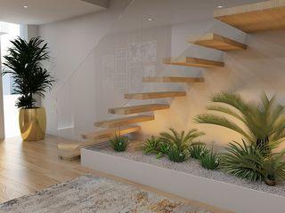 Uma casa de sonho Casactiva Interiores Corredores, halls e escadas modernos