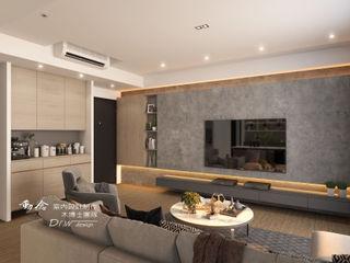 惠宇一森青 木博士團隊/動念室內設計制作 现代客厅設計點子、靈感 & 圖片