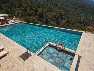 Manzara Hotel Serapool Bahçe havuzu Seramik Yeşil