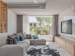 Villa M&G manuarino architettura design comunicazione Soggiorno moderno Bianco