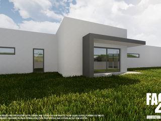 Moradia Unifamiliar T3@Lamego Factor4D - Arquitetura, Consultadoria & Gestão Casas modernas