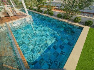 Bodrum Villa Projesi Serapool Bahçe havuzu Seramik Mavi
