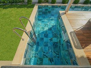 Bodrum Villa Projesi Serapool Bahçe havuzu Seramik Kırmızı