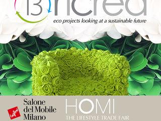"""13RiCrea ad HOMI """"il Salone degli Stili di Vita"""" 13RiCrea Giardino d'inverno eclettico Legno Verde"""