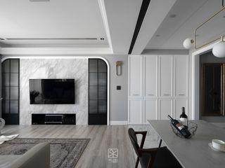 禾廊室內設計 Ruang Keluarga Klasik Marmer