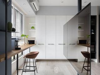 禾廊室內設計 Ruang Studi/Kantor Gaya Skandinavia