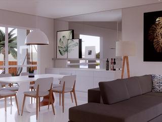 SCK Arquitetos Comedores de estilo minimalista