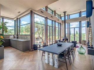 MOB ARCHITECTS Moderne woonkamers