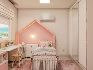 Cláudia Legonde Kamar tidur anak perempuan Pink
