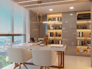 Cláudia Legonde Ruang Studi/Kantor Modern
