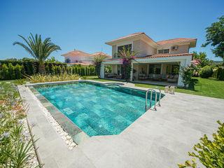 Çeşme Villa Projesi Serapool Bahçe havuzu Seramik Yeşil