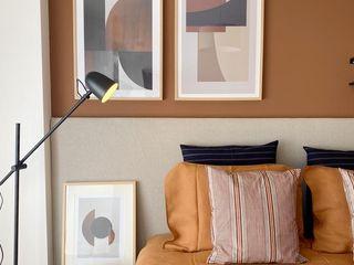 Rafaela Fraga Brás Design de Interiores & Homestyling Phòng ngủ phong cách chiết trung Brown