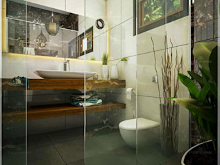 Monnaie Interiors Pvt Ltd Salle de bainDécorations Bois Effet bois