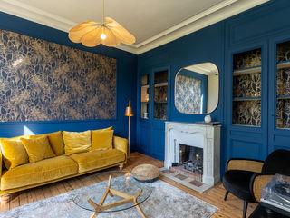 décoration d'une maison de maître MISS IN SITU Clémence JEANJAN Salon original Bois Bleu