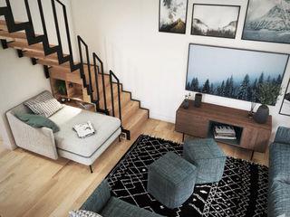 Studio Coralie Vasseur 现代客厅設計點子、靈感 & 圖片