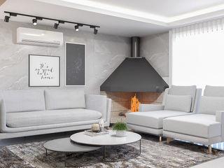 Cláudia Legonde Ruang Keluarga Modern
