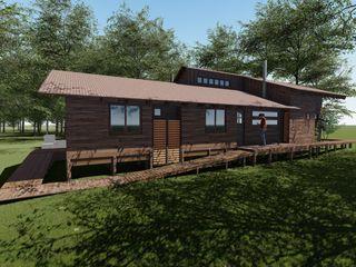 Nave + Arquitectura & Modelación Paramétrica Casas de estilo rural Acabado en madera