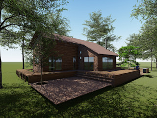 Nave + Arquitectura & Modelación Paramétrica Bungalows Acabado en madera