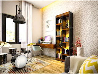 Monnaie Interiors Pvt Ltd Salle multimédiaAccessoires & décorations Bois Effet bois