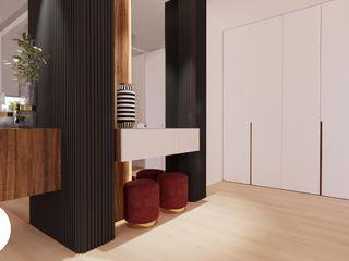 Projeto - Arquitetura de Interiores - Sala FR Areabranca Corredores, halls e escadas modernos