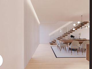 Projeto - Arquitetura de Interiores - Sala FR Areabranca Salas de jantar modernas