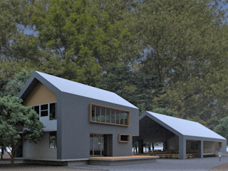 Arquitecto Rafael Viana Balbi - CDMX + Rio de Janeiro 層疊式原木屋 鋁箔/鋅 Metallic/Silver
