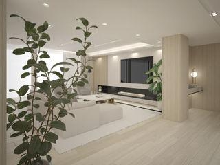 Elegante Moradia em Tons Naturais Maria Vilhena Interior Design Corredores, halls e escadas modernos Bege