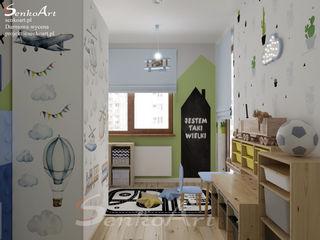 Projekt pokoju dziecięcego Senkoart Design Pokój dla chłopca Kompozyt drewna i tworzywa sztucznego Niebieski
