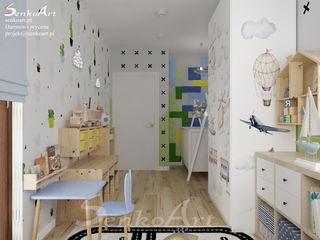 Projekt pokoju dziecięcego Senkoart Design Pokój dla chłopca Kompozyt drewna i tworzywa sztucznego Zielony