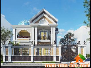 Mẫu biệt thự 2 tầng mái thái 120m2 kiến trúc tân cổ điển Công ty TNHH TKXD Nhà Đẹp Mới