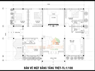 Mẫu nhà cấp 4 mái thái 4 phòng ngủ kiến trúc đẹp ở nông thôn Công ty TNHH TKXD Nhà Đẹp Mới