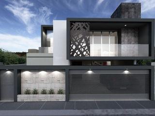 CouturierStudio منازل الخرسانة Grey