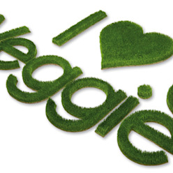 Logos aus Gras Grassland