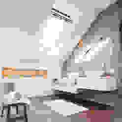 Dachaufstockung eines Einfamilienhauses WSM ARCHITEKTEN Moderne Badezimmer