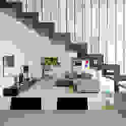 Recupero Sottotetto - Duplex 2 enzoferrara architetti Soggiorno moderno