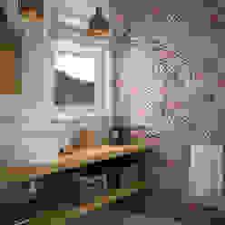 Casas de banho mediterrânicas por Equipe Ceramicas Mediterrânico Cerâmica