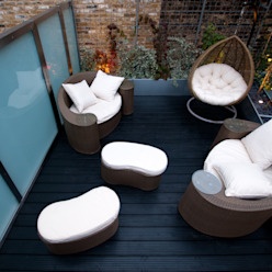 London Bridge, London Urban Roof Gardens Balcones y terrazas de estilo moderno