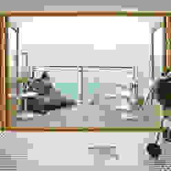 Porthleven Eclectic style balcony, veranda & terrace by LEIVARS Eclectic