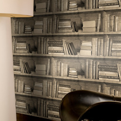 Sepia Bookshelf Wallpaper by Mineheart: classic  by Anthea's Home Store, Classic