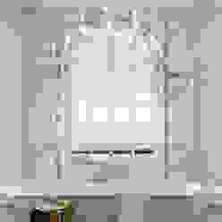 Classic bathroom 3d visual Casas de banho por homify