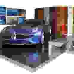 Fisker Island - pedana espositiva modulare per automotive luca pedrotti architetto Sala multimedialeMobili