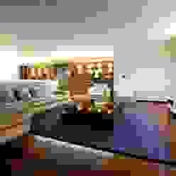 Sala Estar Augusta House Risco Singular - Arquitectura Lda Salas de estar minimalistas