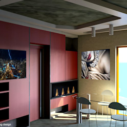Sonia Home Case eclettiche di INTERNO67 living design Eclettico