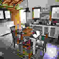 São Lourenço da Serra/SP: Casas  por Bianka Mugnatto Design de Interiores,Rústico
