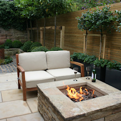 Urban Courtyard for Entertaining Bestall & Co Landscape Design Ltd Jardines de estilo moderno