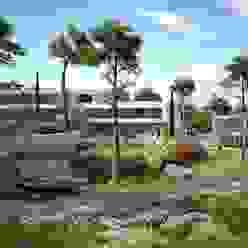 Proyecto 3D - Paisajismo Realistic-design Jardines de estilo mediterráneo